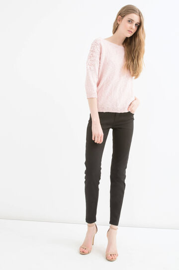 Plain stretch jeans