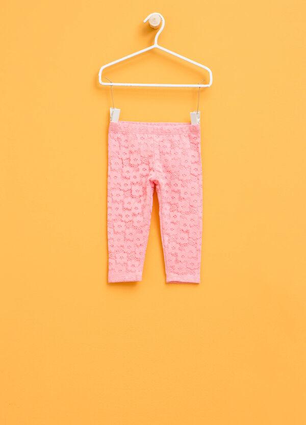 Leggings in pizzo di cotone stretch | OVS