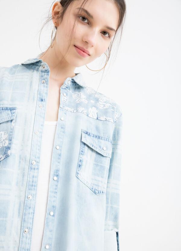 Camicia puro cotone con stampa | OVS