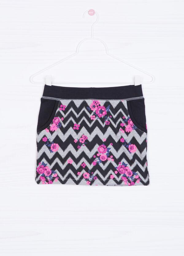 100% cotton patterned skirt | OVS