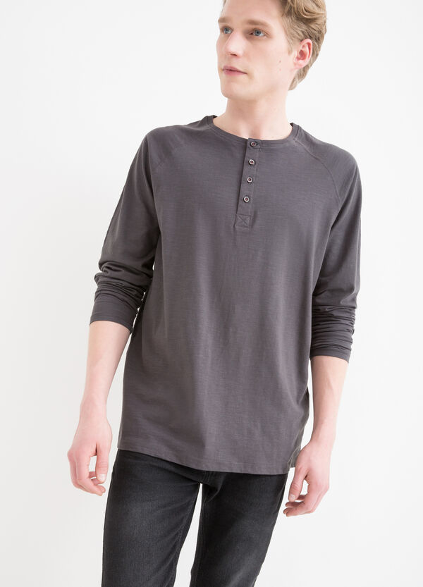 100% cotton T-shirt with long sleeves | OVS