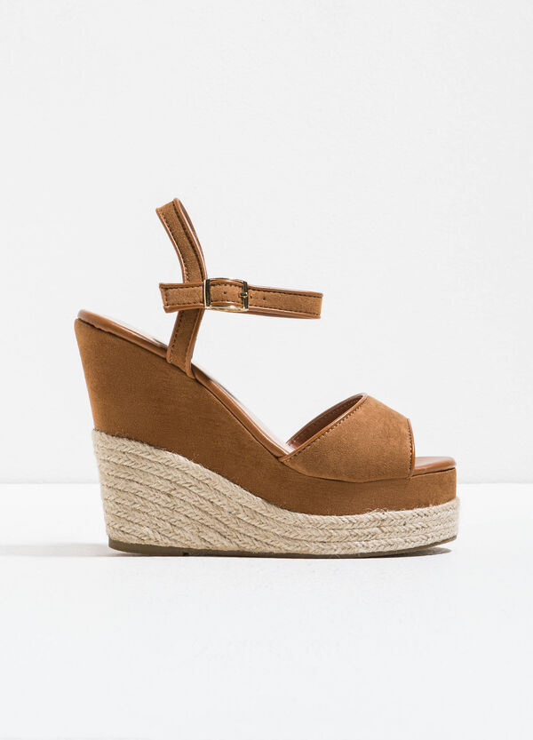 Suede sandals with wedge | OVS