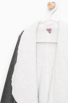 Fur lined cardigan, Dark Grey, hi-res
