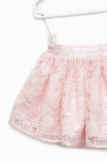 Lace skirt with sequins, Pink, hi-res