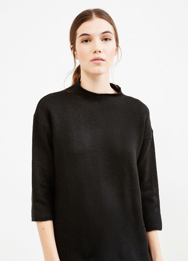 High neck pullover with three-quarter sleeves | OVS