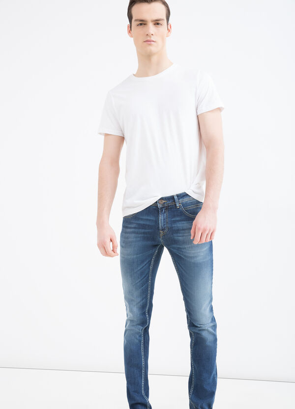 Delavé-effect slim-fit stretch jeans | OVS