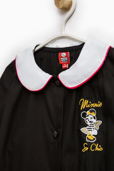 Cotton blend smock with Minnie Mouse patch, Black, hi-res