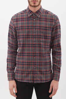 Checked shirt with pocket, Blue/Red, hi-res