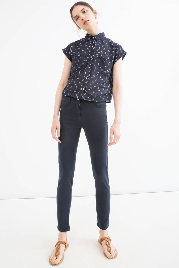 Modal and cotton blend trousers | OVS
