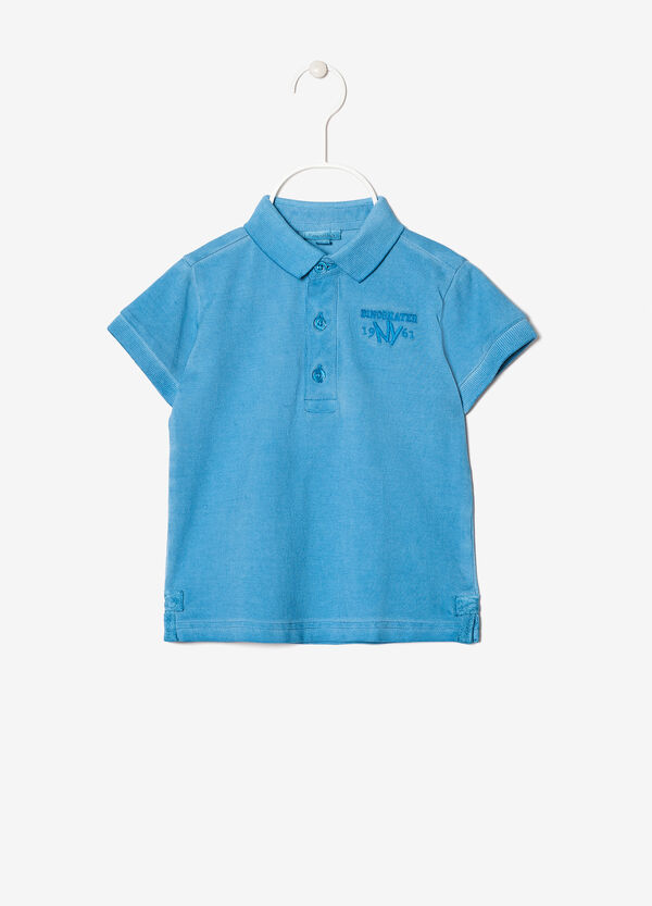 Polo shirt with embroidered motif | OVS