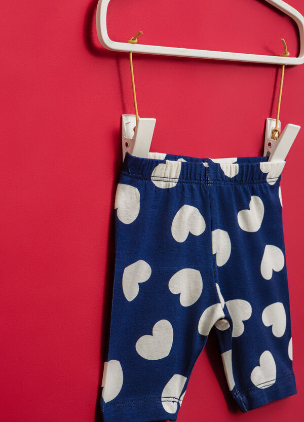 Stretch cotton shorts with heart pattern | OVS