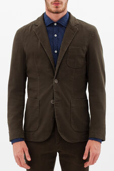 Rumford stretch cotton jacket, Brown, hi-res