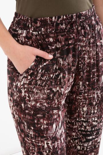 Curvy 100% viscose trousers, Claret Red, hi-res