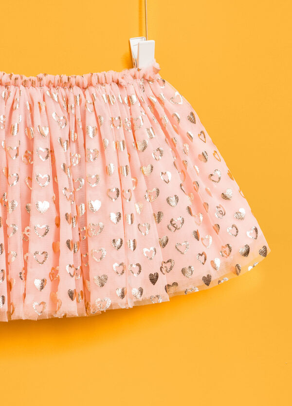 Tulle skirt with hearts pattern | OVS