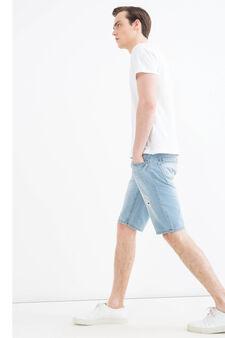 Bermuda di jeans straight fit, Denim, hi-res