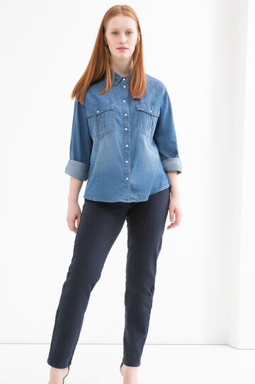Camicia di jeans stretch Curvy, Denim, hi-res