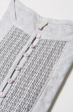Printed cotton pyjamas, Grey Marl, hi-res