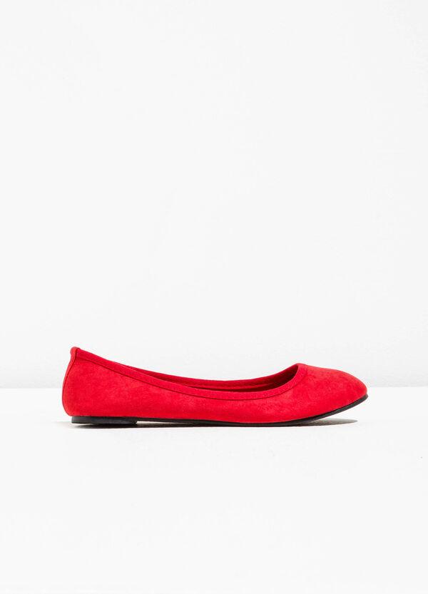 Ballerina flats in suede fabric | OVS