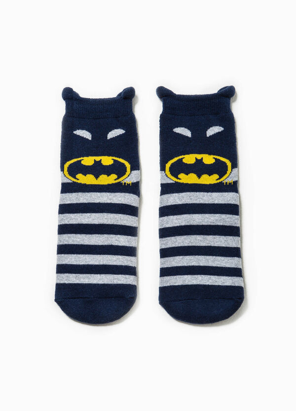 Striped slipper socks with Batman embroidery | OVS