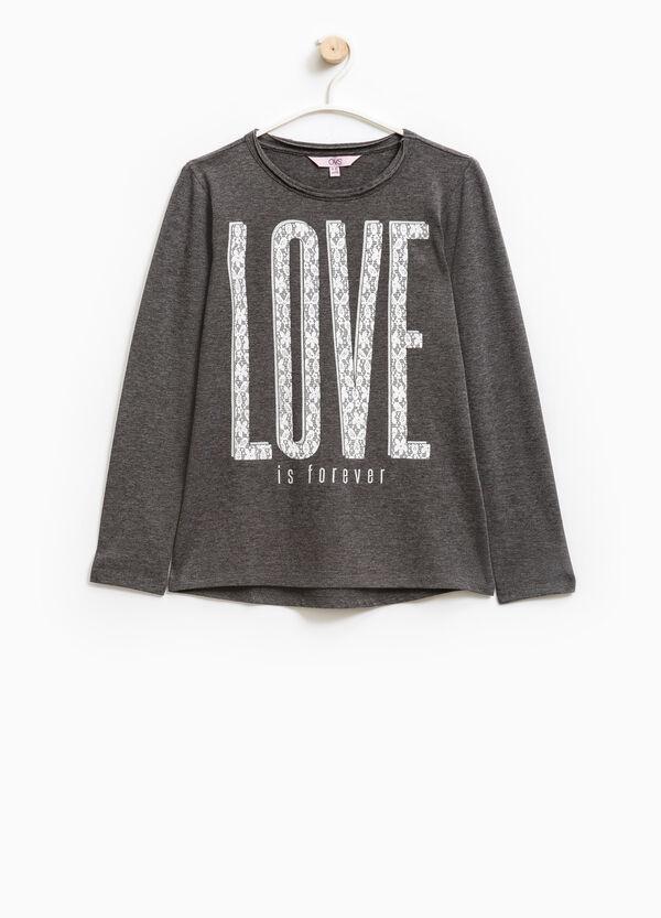 Camiseta en algodón elástico con estampado | OVS
