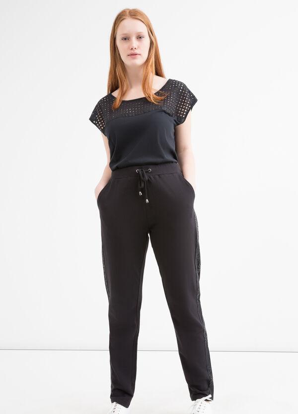 Curvy cotton gym pants | OVS