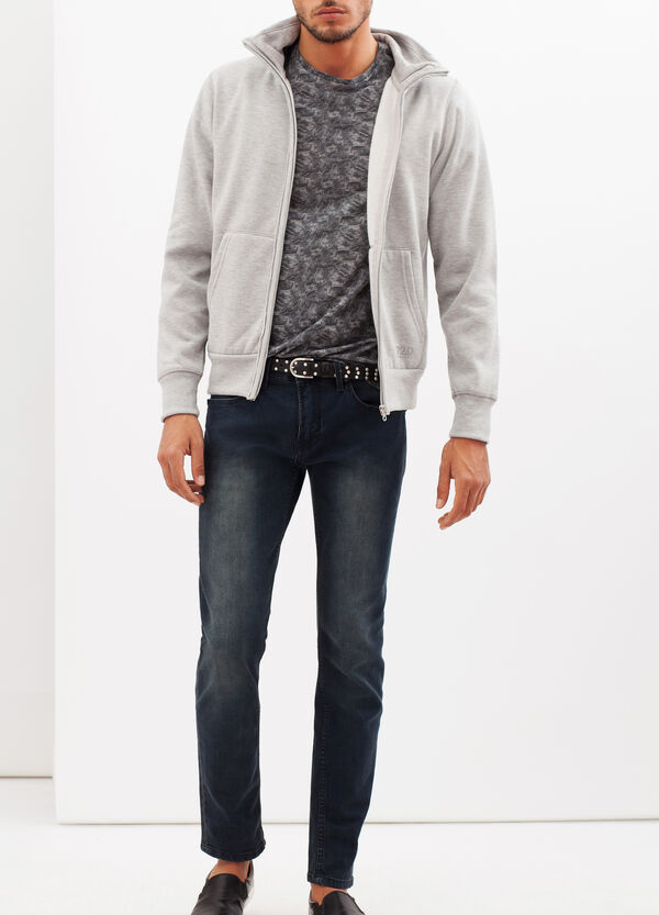 Plain sweatshirt with zip | OVS