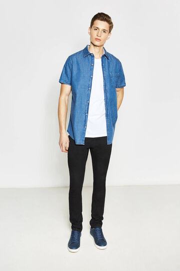 Casual denim shirt with pattern