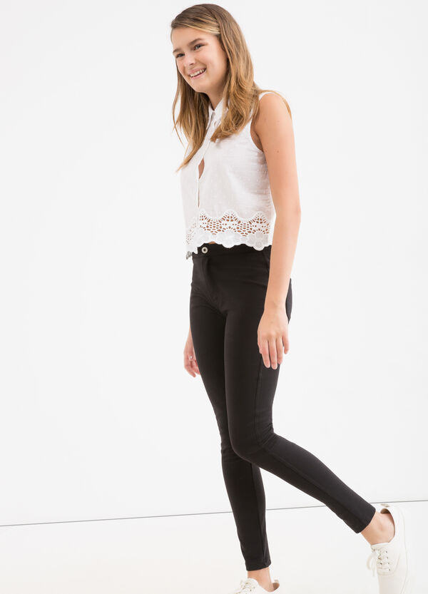 Stretch cotton Teen trousers | OVS