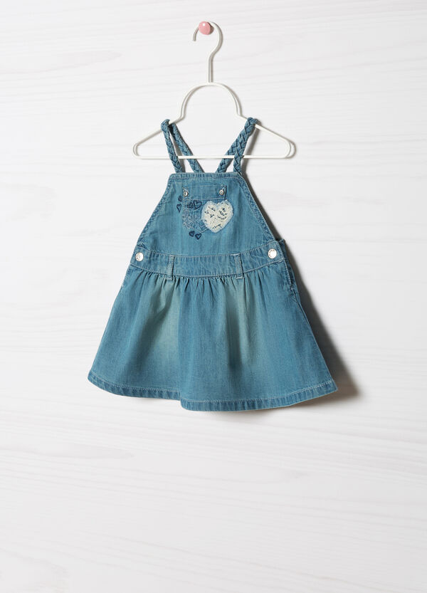 Pinafore dress with lace | OVS