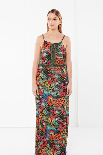 Curvyglam long dress, Multicolour, hi-res