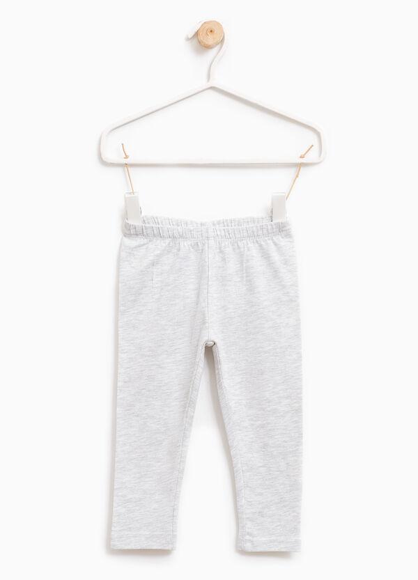 Leggings en algodón elástico en color liso | OVS