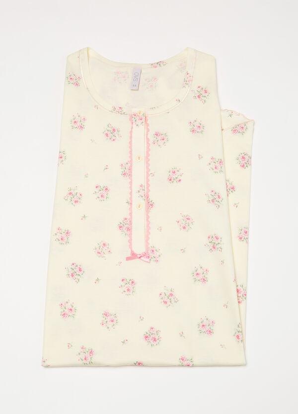 100% cotton floral nightshirt | OVS