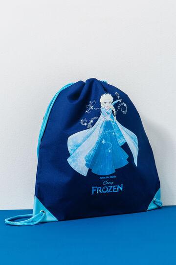 Sacchetta stampa Frozen, Blu navy, hi-res