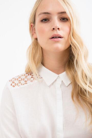 Curvy 100% linen shirt