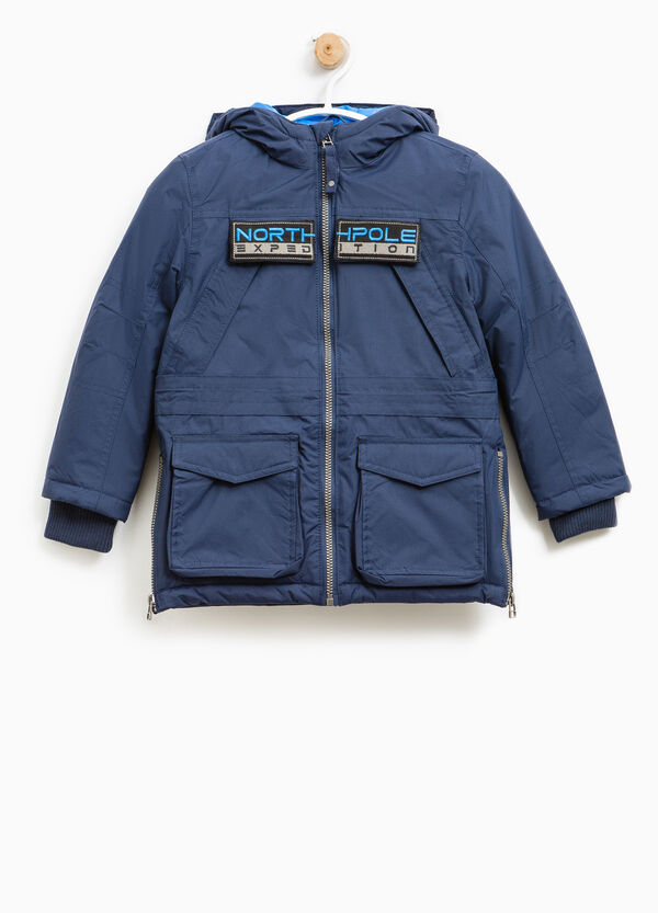 Solid colour jacket with patch | OVS