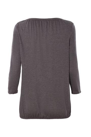 Smart Basic plain cotton T-shirt, Grey, hi-res