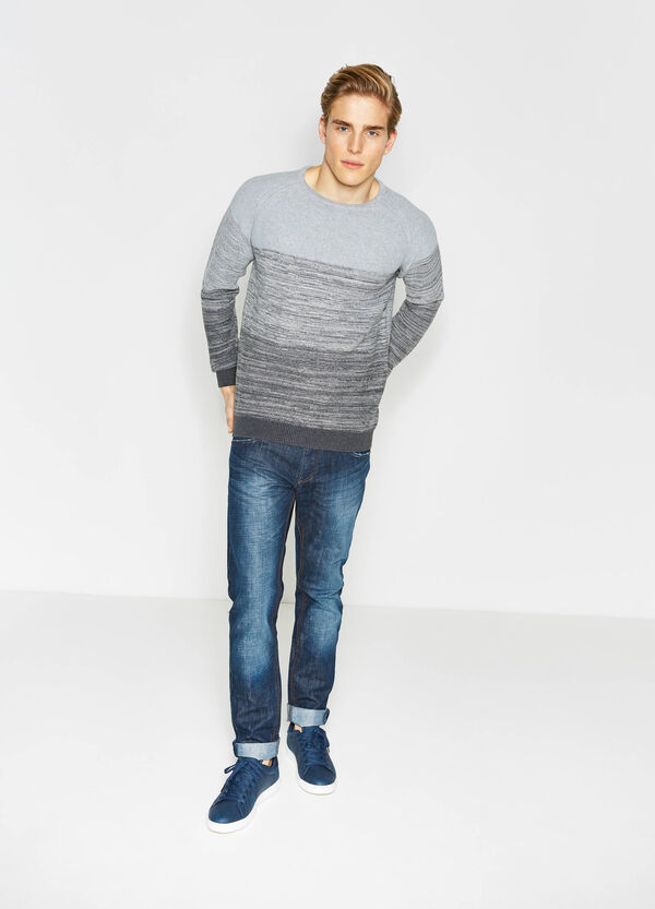 Striped pattern pullover in 100% cotton | OVS