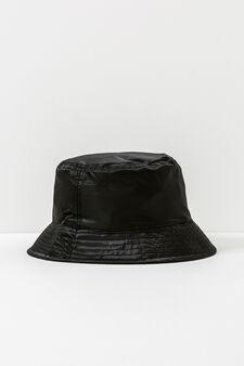 Cappello alla pescatora tinta unita, Nero, hi-res