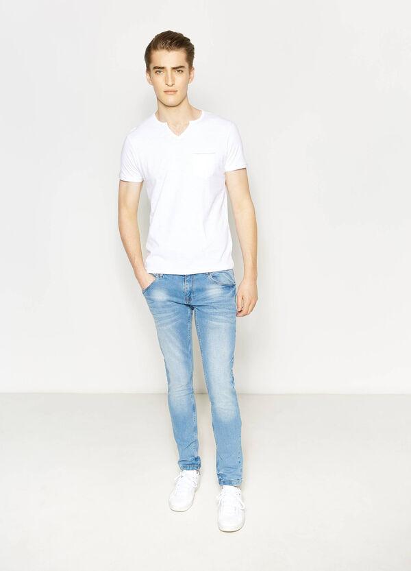 V-neck T-shirt with pocket | OVS