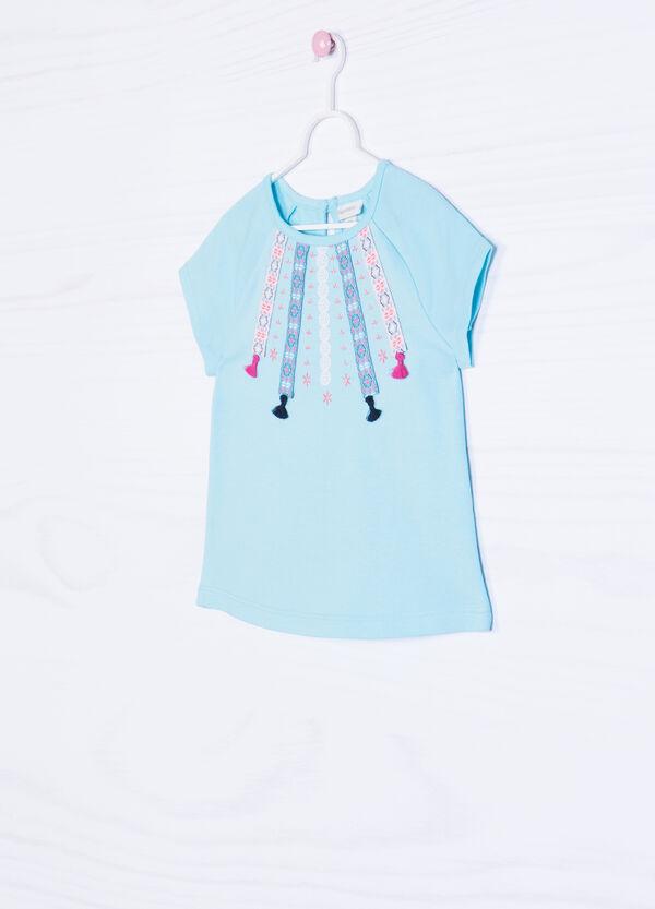 T-shirt cotone stretch con ricami | OVS