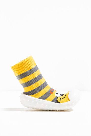 Pantofole calzino fantasia a righe, Multicolor, hi-res