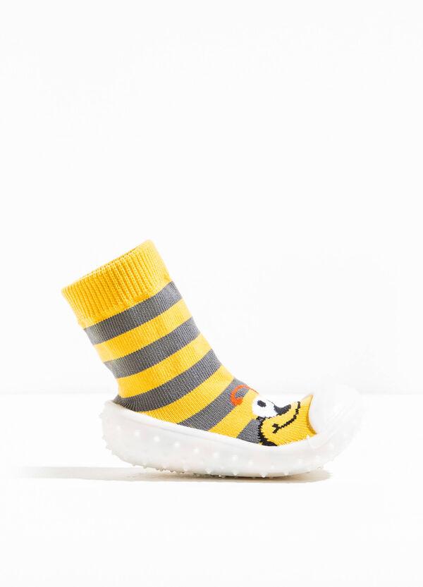 Pantofole calzino fantasia a righe | OVS