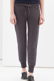 Joggers with drawstring, Grey Marl, hi-res