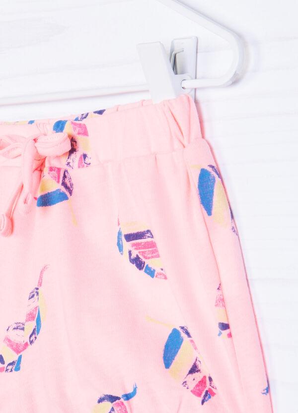 Stretch cotton patterned shorts | OVS