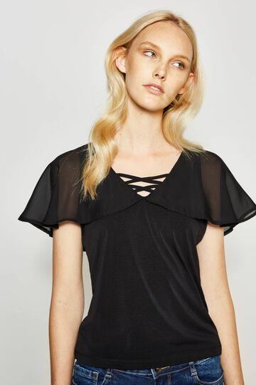Top with frill and bands