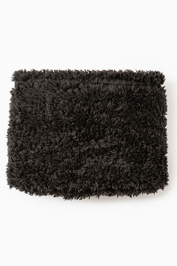 Fur neck warmer, Black, hi-res