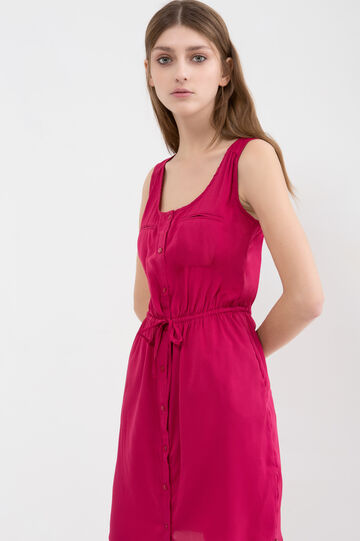 Solid colour sleeveless dress, Red, hi-res