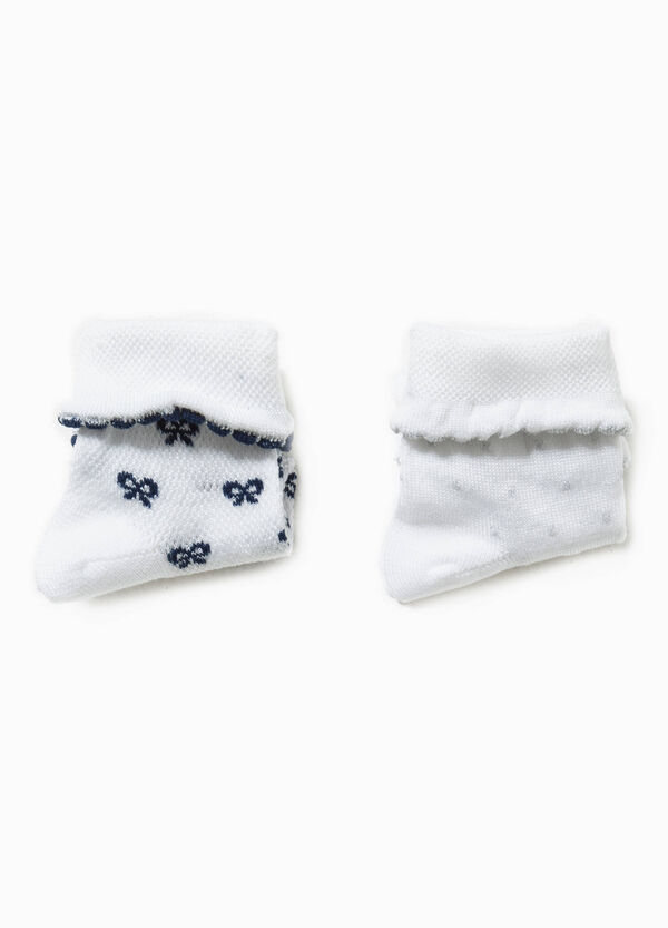 Two-pair pack butterfly and polka dot socks | OVS
