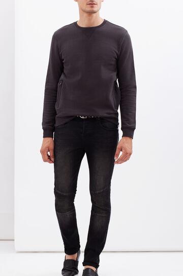 Plain sweatshirt, Dark Grey, hi-res