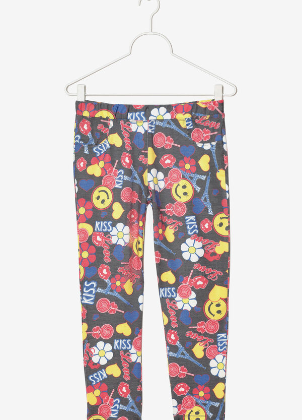 Leggings with all-over pattern | OVS